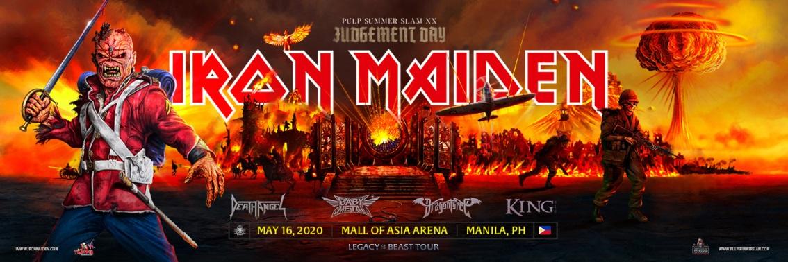 Pulp Summer Slam 2020.Mall Of Asia Arena Pulp Summer Slam Xx Iron Maiden